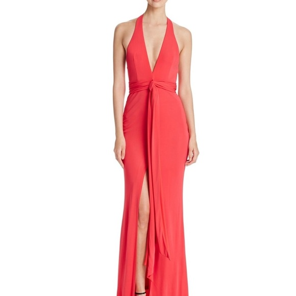 ABS Allen Schwartz Dresses | Abs By Allen Schwartz Deep V Gown Red M ...